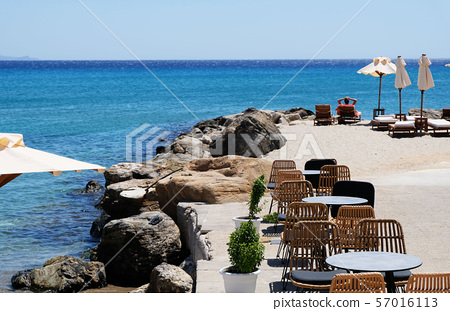 Beautiful beach cafe on the seaside 57016113