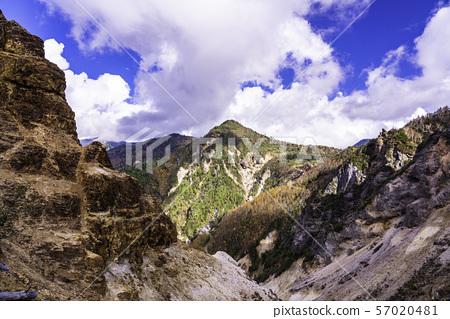 (군마현) 황량한 만자 온천 산맥 가을 57020481