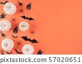 Top view of Halloween crafts background 57020651