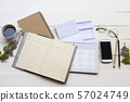 notebook with document for business work  57024749