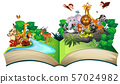 Many wild animals in the forest 57024982