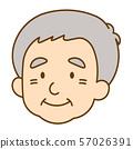 남성 노인 얼굴 57026391