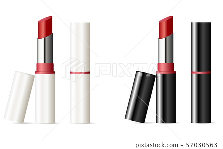 Trendy lipstick mock up set with black and white 57030563