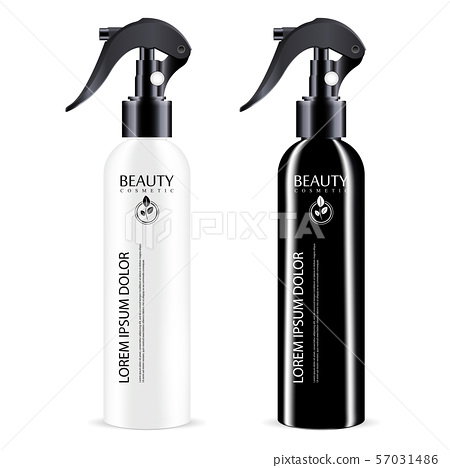 Black and White sprayer cosmetics bottle with 57031486