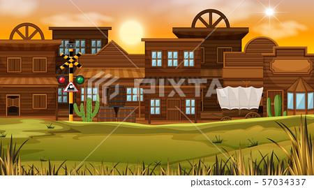 Western desert themed scene in nature 57034337