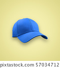 Fashion and sports blue cap isolated 57034712