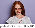 talented actress taking part in horror film 57037185