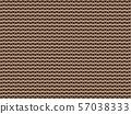 겹쳐진 종이의 단면 _ 원활한 패턴 일러스트 57038333