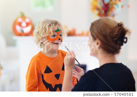 Child in Halloween costume. Kids trick or treat. 57040581
