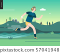 Runners - guy exercising 57041948