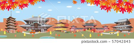 秋天城市觀光點圖像例證 57042843