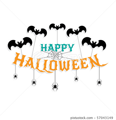 Halloween lettering 57043149