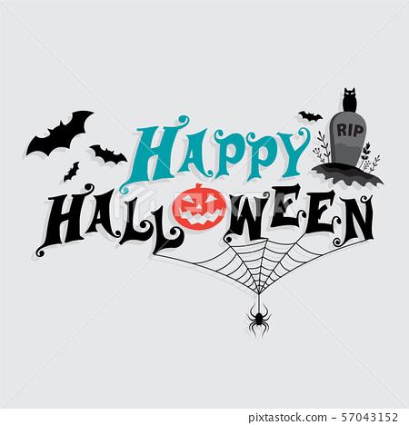 Halloween lettering 57043152