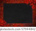 단풍 - 프레임 - 검은 종이 57044842