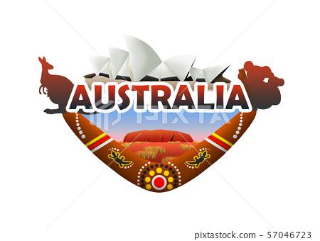 Australia Travel Logo 57046723