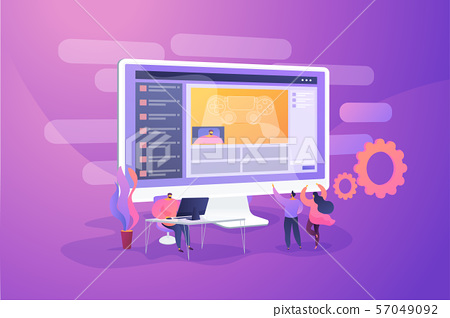 Video game walkthrough concept vector illustration. 57049092