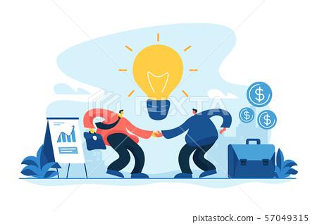 Partnership concept vector illustration 57049315