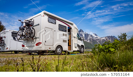 Family vacation travel RV, holiday trip in 57053164