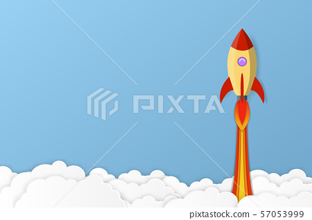 Rocket launch into space. Business project start 57053999