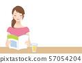 책을 읽는 여자 휴식 57054204
