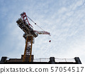 Tower crane at a construction site 57054517