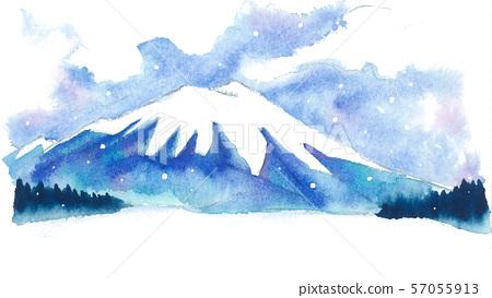 Watercolor landscape 57055913