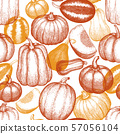 Thanksgiving Day and Halloween seamless pattern. 57056104