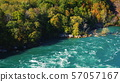 The riverbed of Niagara and the forest. Beautiful summer landscape, nature of the USA and Canada. 4K 57057167