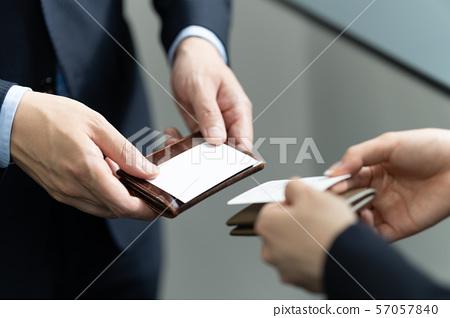 商人手头交换名片 57057840