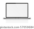 Modern laptop with reflections and shadows. 57059684