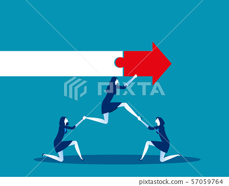 Business teamwork with partners. Concept business 57059764