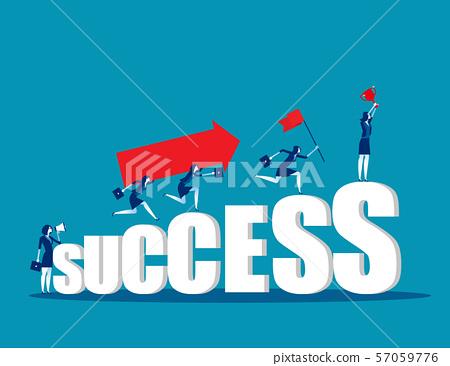 Business teamwork togetherness. Concept business 57059776
