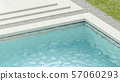 Blank blue rippled water in swimming pool mockup 57060293