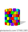 Tower from toy building blocks. Vector colorful 57061385