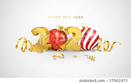 Happy New Year 2020 background. 57062973
