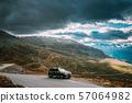 Aurlandsfjellet, Norway. Car SUV Parked Near Aurlandsfjellet Scenic Route Road In Summer Norwegian 57064982
