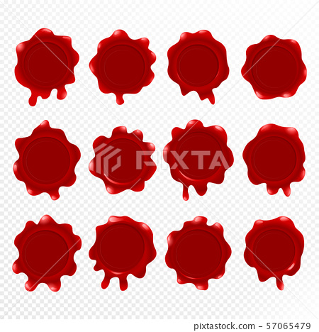 Red wax Seal Vector Illustration eps 10. 57065479