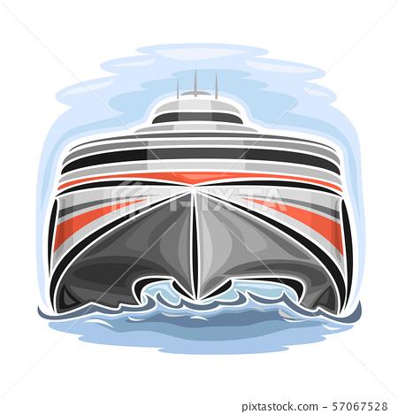 Vector logo for high-speed catamaran 57067528