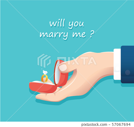 proposal of marriage. vector illustration EPS10 57067694