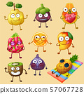 Funny fruit character isolated on white background 57067728