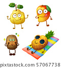 Funny fruit character isolated on white background 57067738