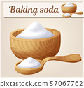 Baking soda. Cartoon vector icon. Series of food and drink and ingredients for cooking 57067762