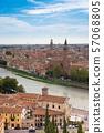 มรดกโลกทางวัฒนธรรมเวโรนา cityscape อิตาลี 57068805