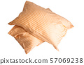 pillow in pillowcase isolated 57069238