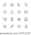 Pet Vet - Flat Vector line Icons 57071397