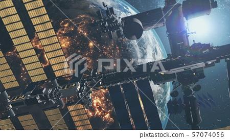 International Space Station against starlight 57074056
