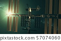 International Space Station in outer space light 57074060