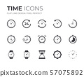 Time and Clock Icons Set 57075892