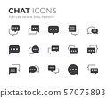 Chat Bubble Icons Set 57075893