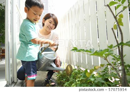 자녀와 함께 식목에 みずやり 57075954